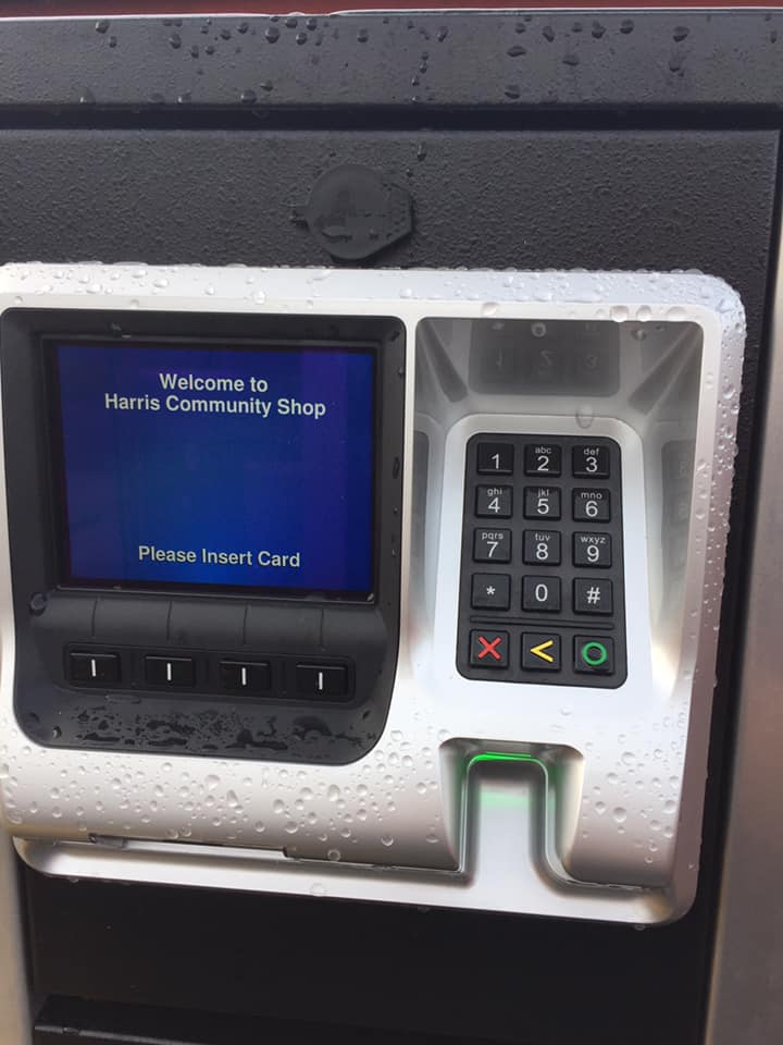where you insert your card before filling